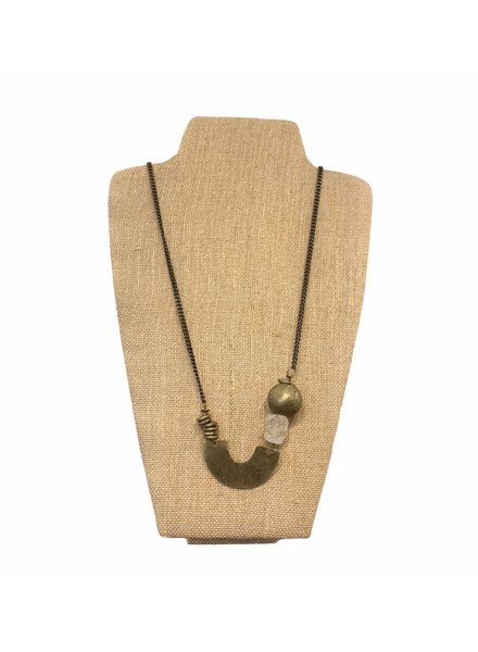 Seeds Jewelry Asymmetric Bead U Necklace