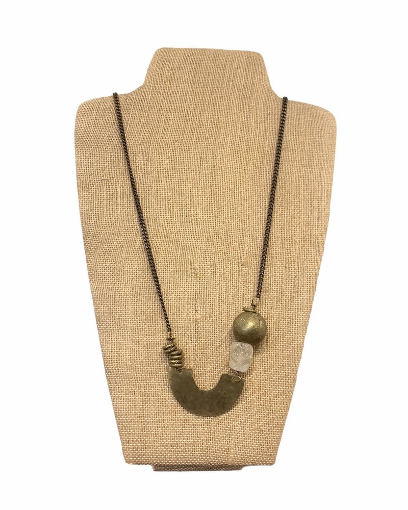 Seeds Jewelry Seeds Asymmetric Bead U Necklace