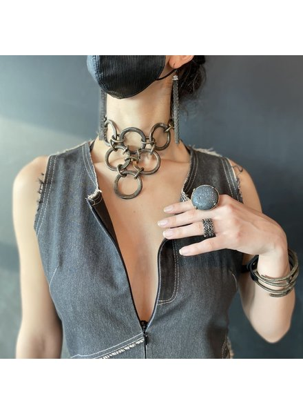 Rebel Designs Brass Circles Necklace