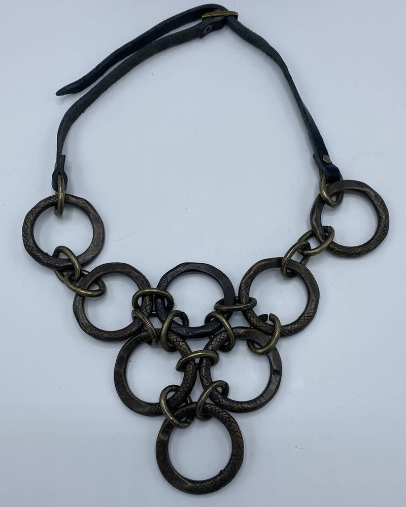 Rebel Designs Rebel Brass Circles Necklace