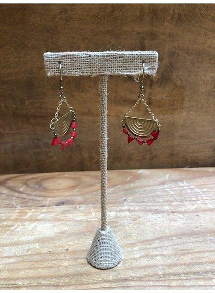 Mata Traders Desert Sun Gold Earrings