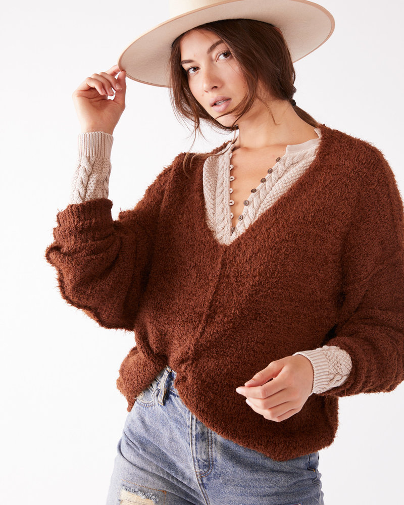 Free People Free People Icing V Pullover