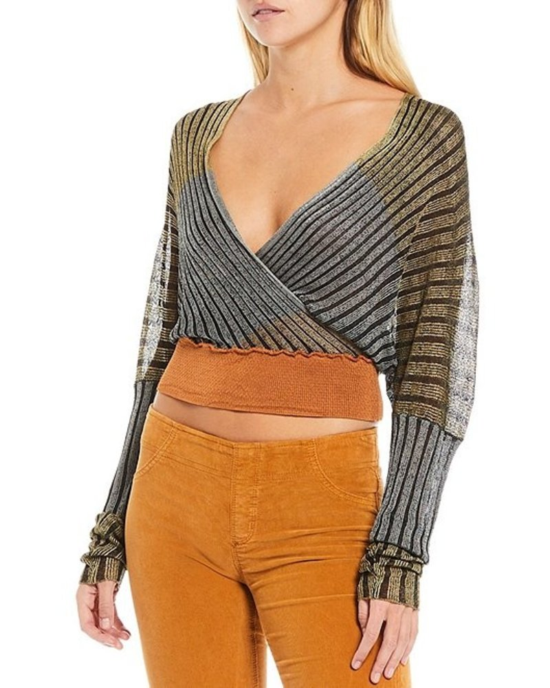 Free People Free People Pluto Wrap Knit Top