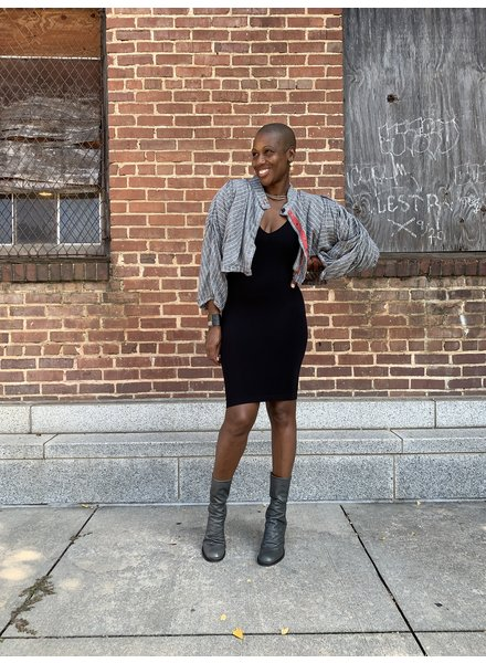 Cynthia Ashby Pleated Crop Jacket