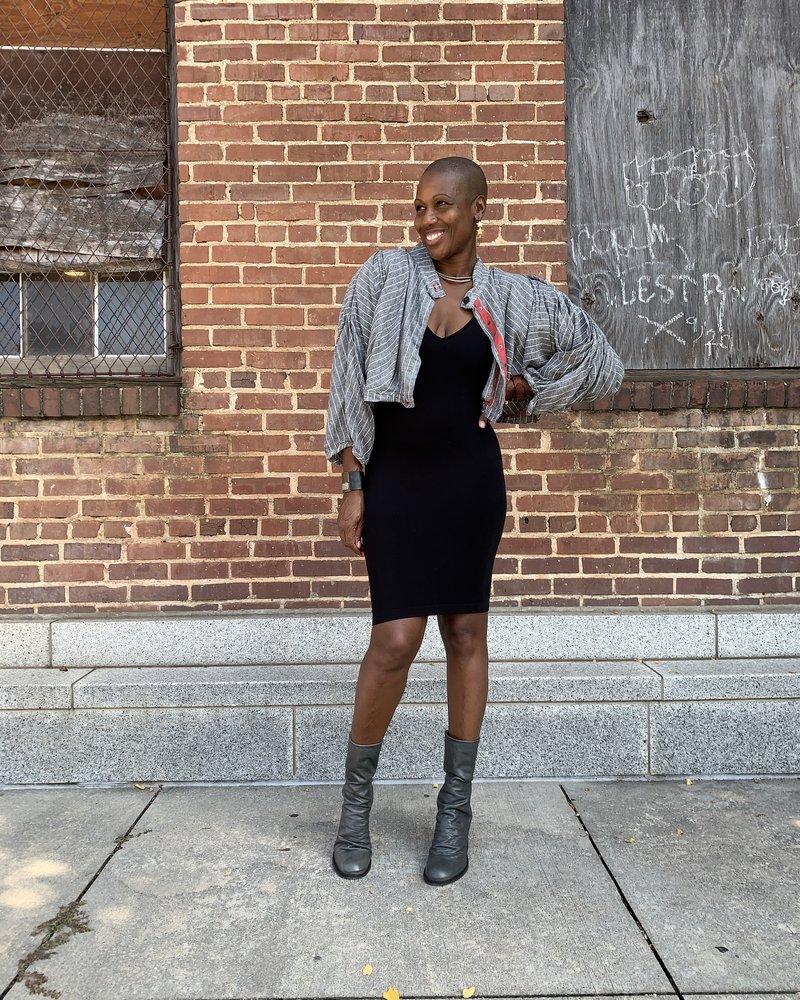 Cynthia Ashby Cynthia Ashby Pleated Crop Jacket