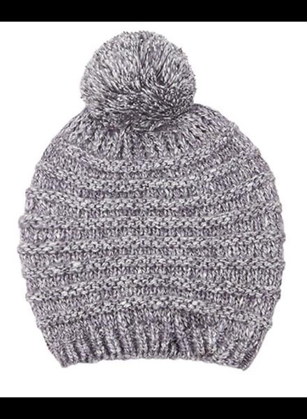 Texture Knit Pom Beanie