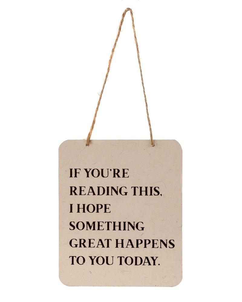 Indaba Greeting Sign