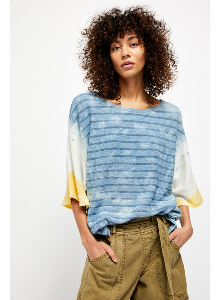 Free People Blue Blue Tee