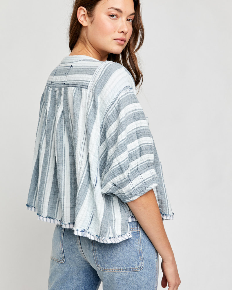 Free People Free People We The Free Lisbon Yarn Dye Top