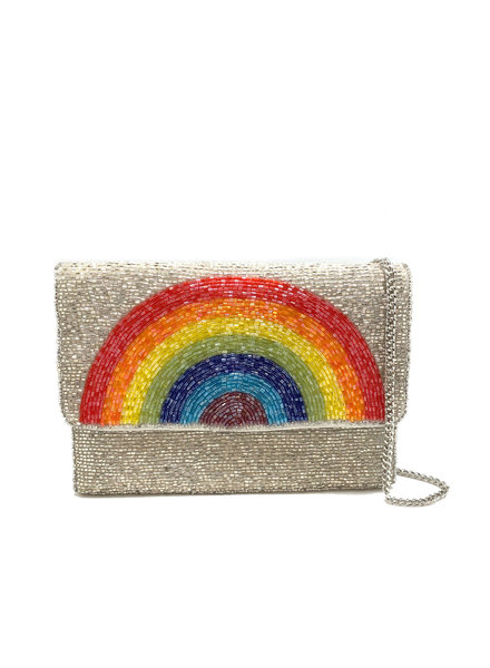 LA Chic. Silver Mini Rainbow Bag
