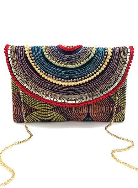 LA Chic. Circular Pattern Multi Clutch