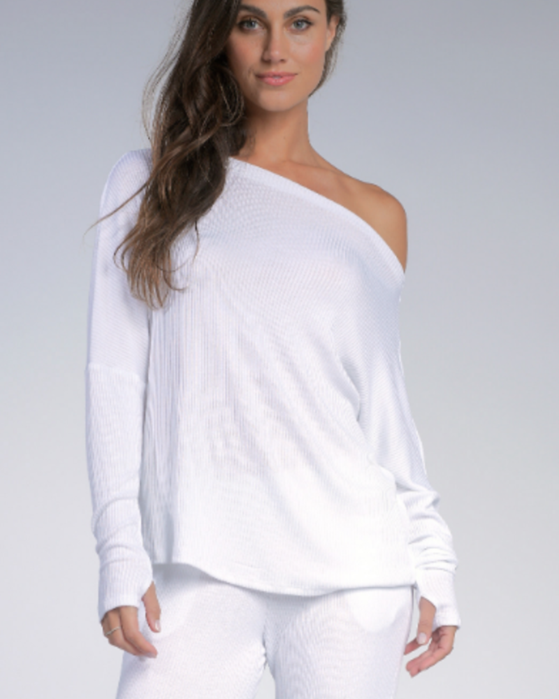 Elan Elan Ribbed Off the Shoulder Top