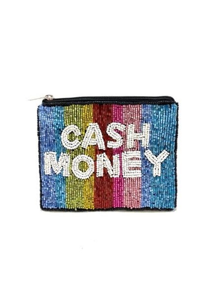 LA Chic. Cash Money Beaded Pouch
