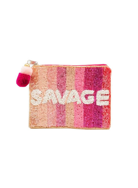LA Chic. Beaded Pouch