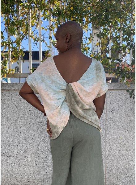 KLD Twistback Tie Dye Top