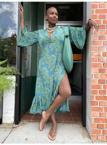 Paani Print High Slit Dress