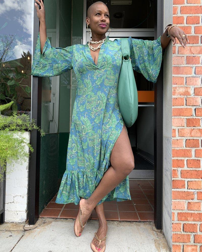 Paani Paani Print High Slit Dress