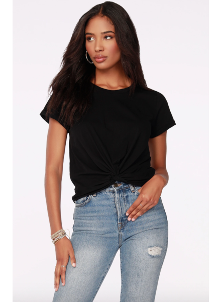 Bobi Front Twist Hem Top