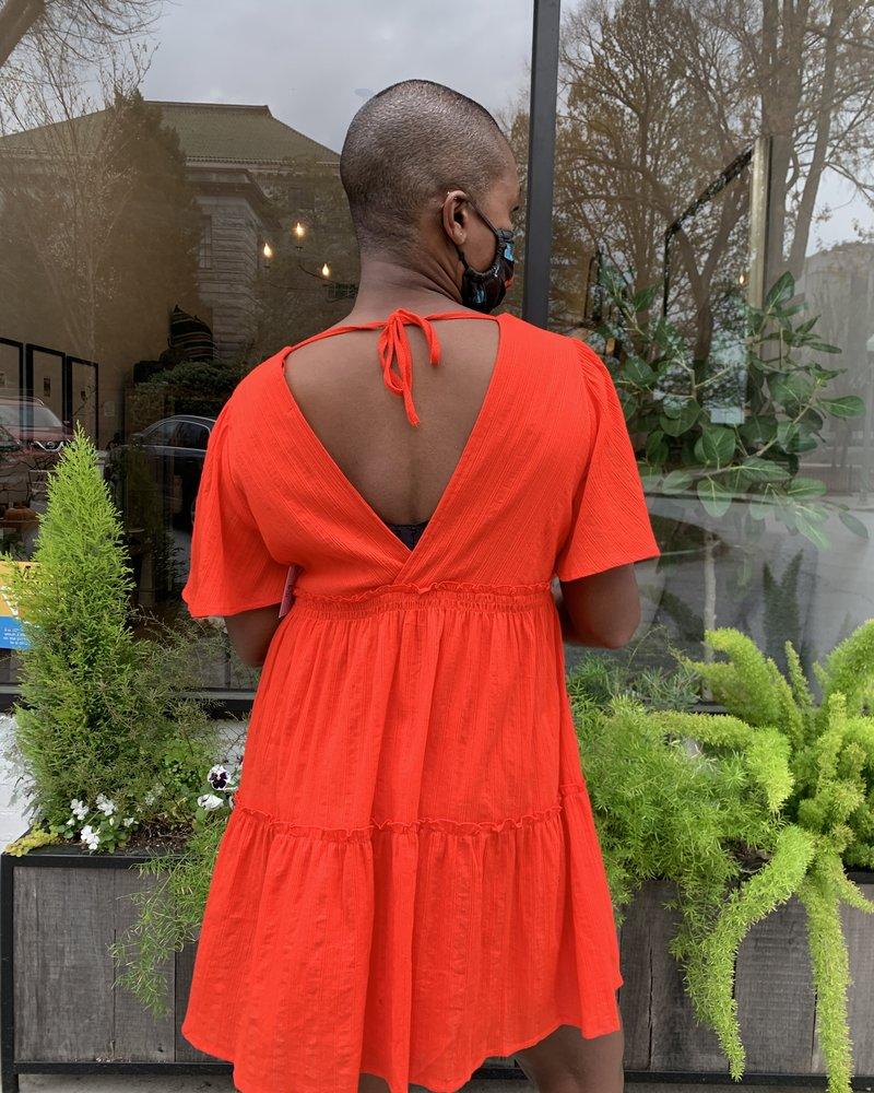 KLD KLD V-Neck Faux Front Wrap Dress