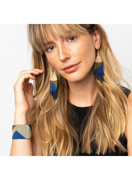 Ink+Alloy Fringe Earrings