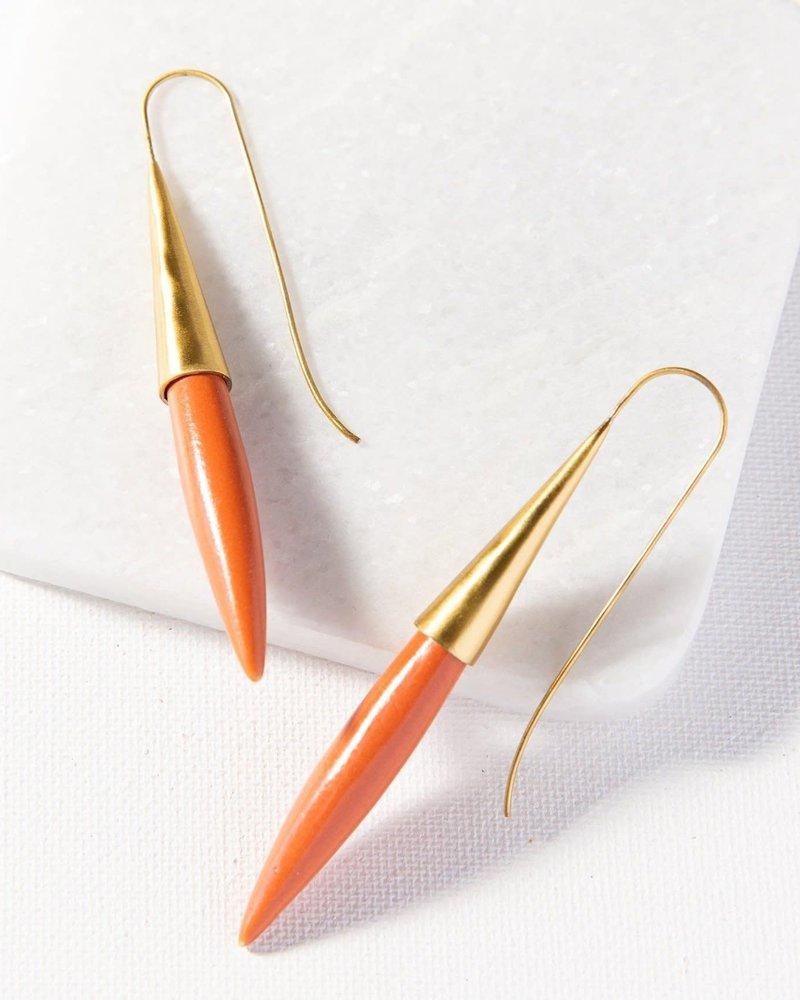 Ink+Alloy Ink+Alloy Ceramic Spike Earrings