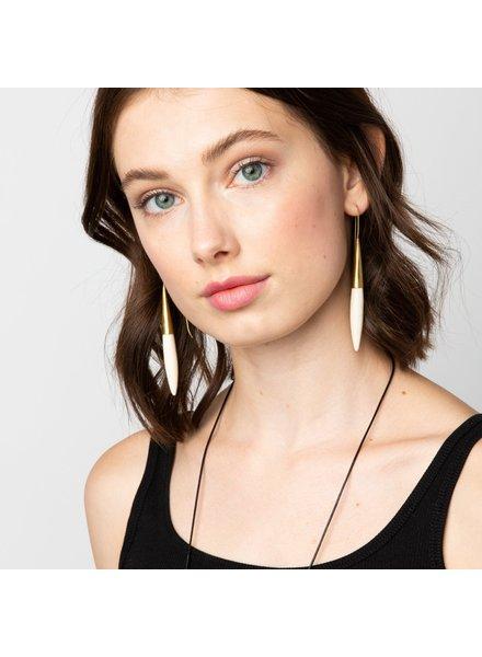Ink+Alloy Ceramic Spike Earrings