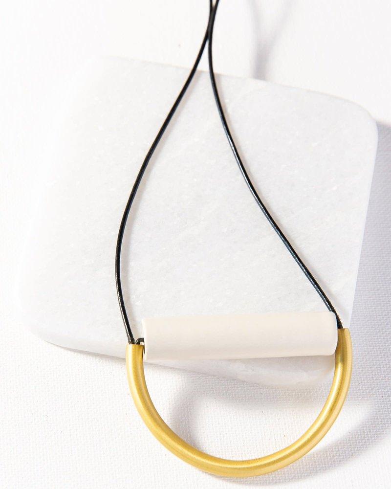 Ink+Alloy Ink+Alloy Ceramic Brass Necklace