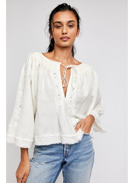 Free People Sun Valley Embellished Top