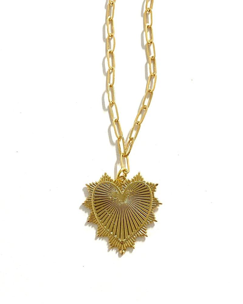 Boho Gal Jewelry Boho Gal Heart Necklace
