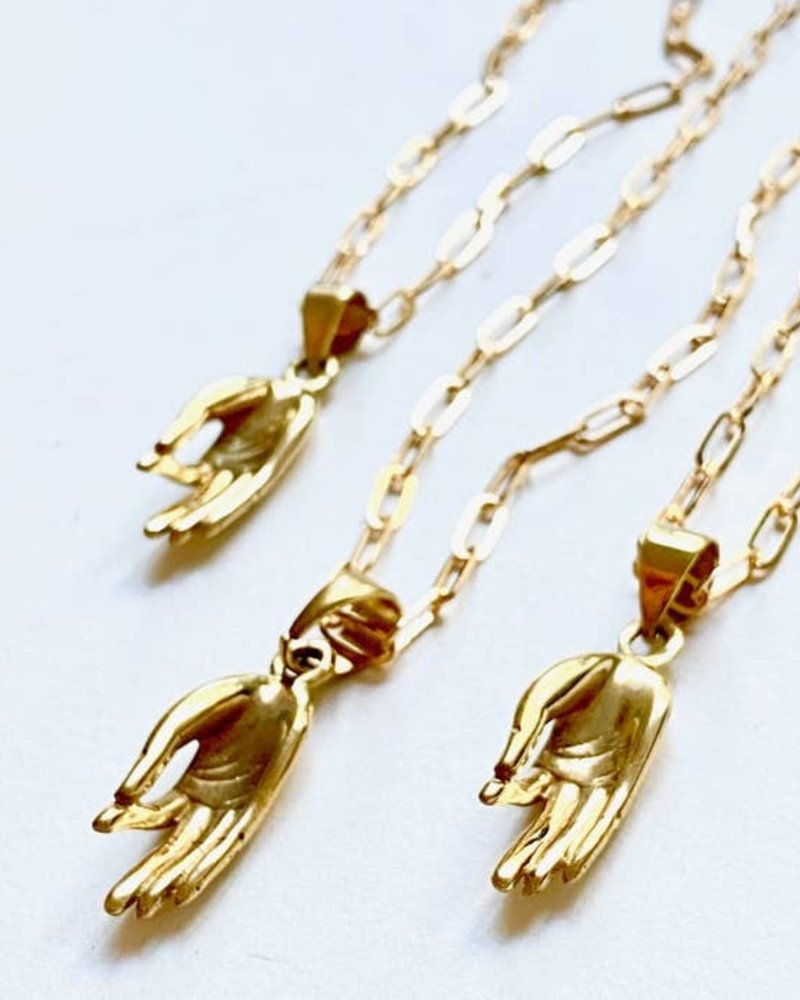 Boho Gal Jewelry Boho Gal Mai Blessing Hand Necklace