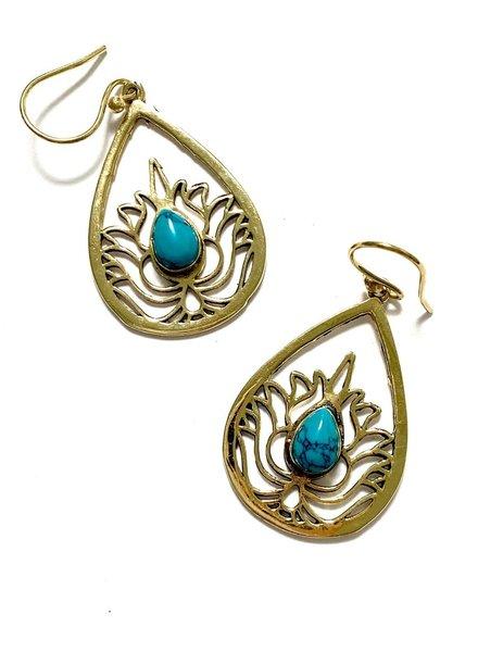 Boho Gal Jewelry Canda Turquoise Earrings