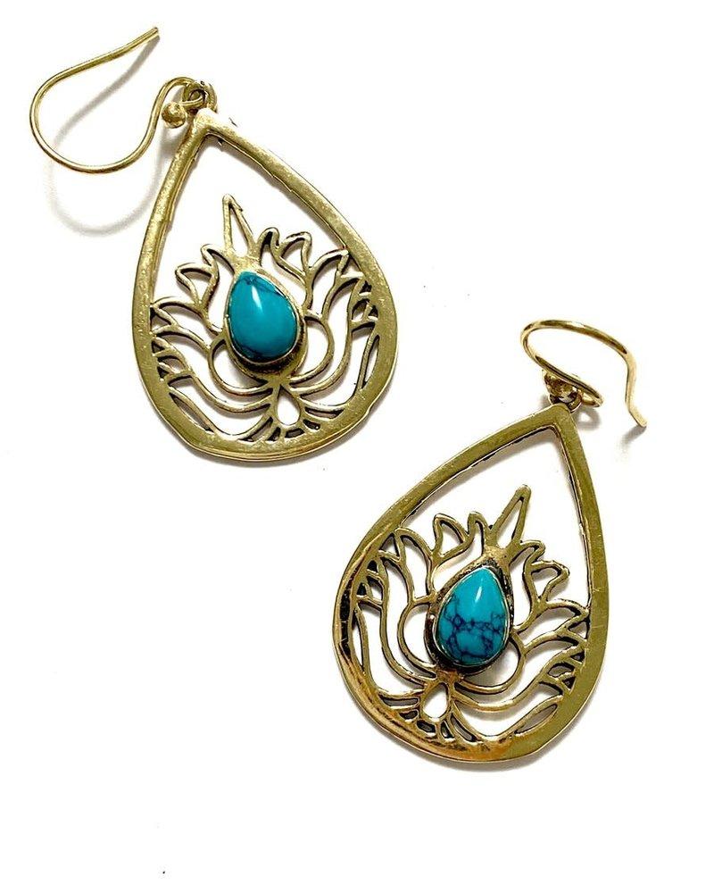 Boho Gal Jewelry Boho Gal Canda Turquoise Earrings