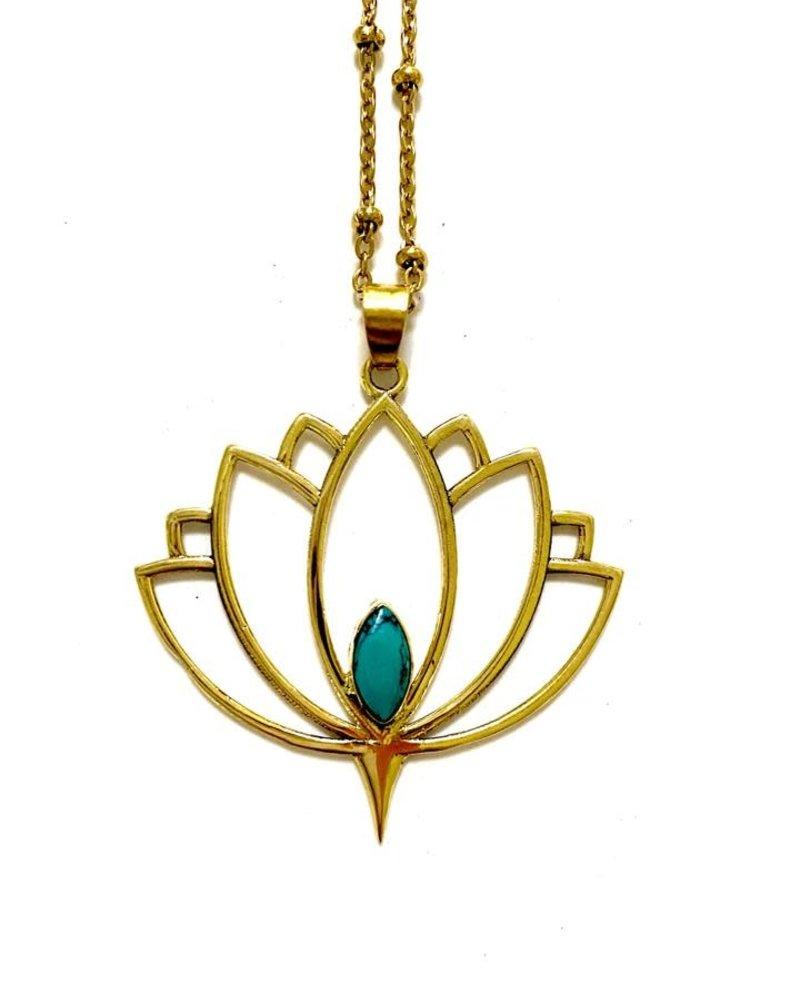 Boho Gal Jewelry BohoGal Aalia Lotus Necklace