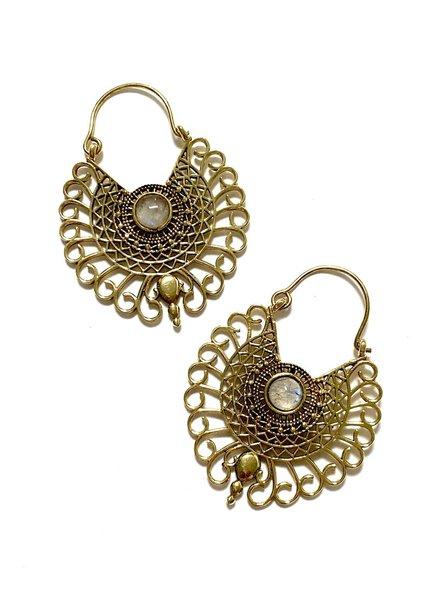 Boho Gal Jewelry Nyah Moonstone Earrings