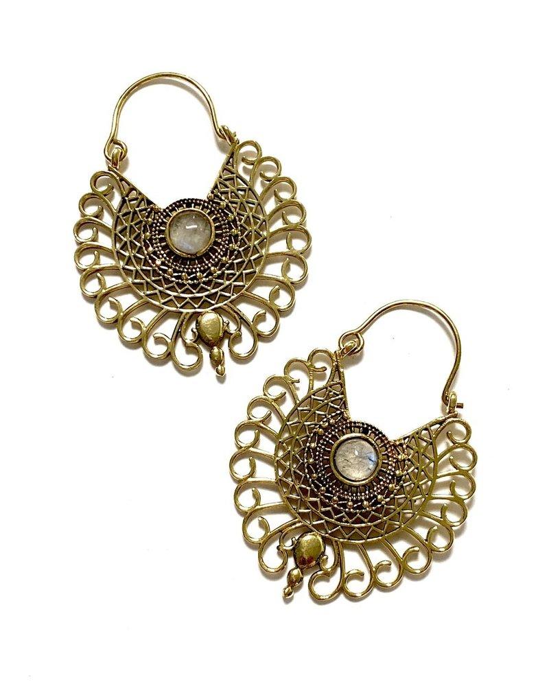 Boho Gal Jewelry Boho Gal Nyah Moonstone Earrings