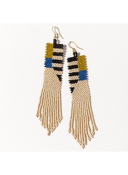 Ink+Alloy Seed Bead Earring