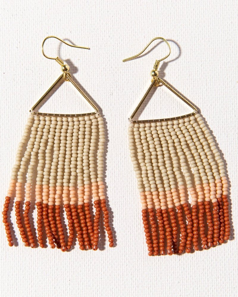 Ink+Alloy Ink + Alloy Triangle Fringe Earring