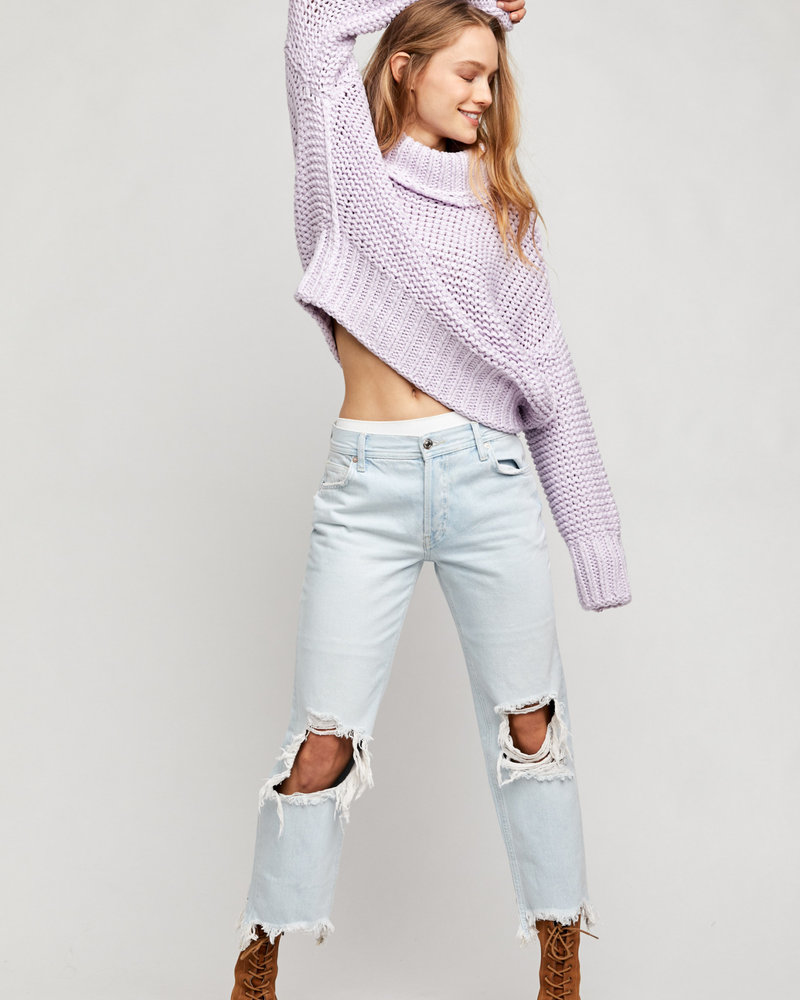Free People Free People Maggie Mid Rise Straight Jean