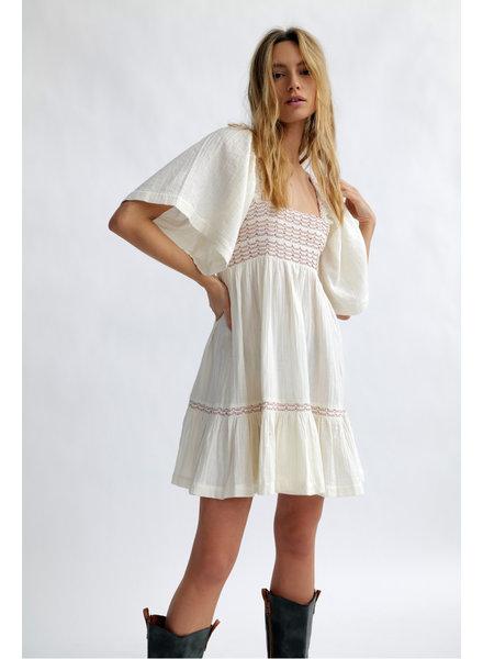 Free People Easy to Love Bubble Mini Dress