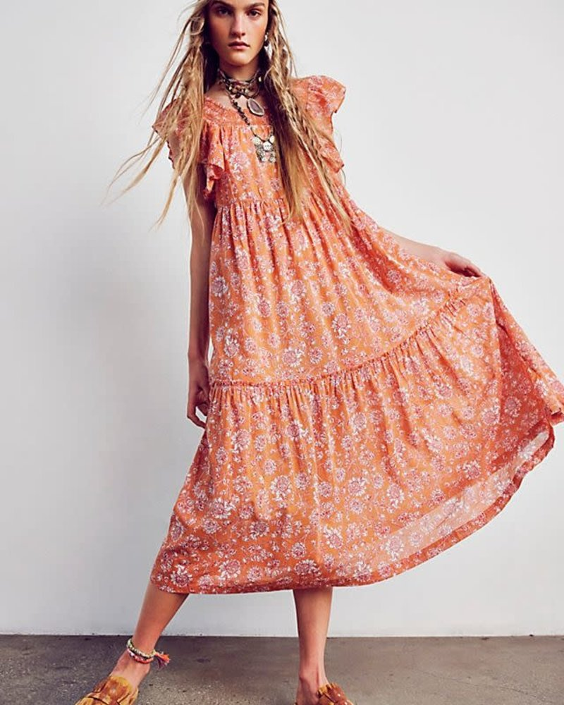 Free People Free People Bonita Printed Midi Dress