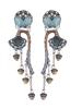 Ayala Bar Ayala Bar Blue Velvet Earrings 1405
