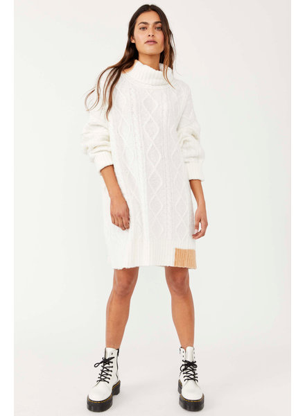 Free People Forever Cable Pullover