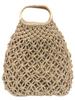 Wooden Handle Net Woven Bag
