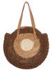 Color Block Circle Straw Bag