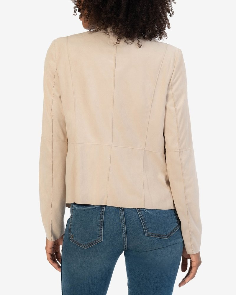 Kut From the Kloth Abigail Faux Suede Drape Front Jacket