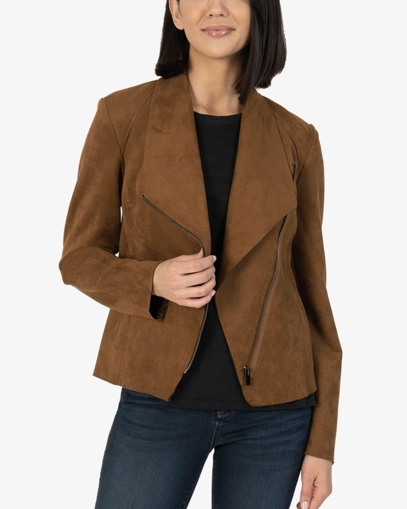 Kut From the Kloth Carina Faux Suede Drape Collar Jacket