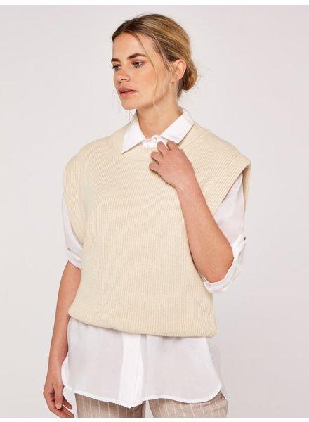 Apricot Power Shoulder Vest