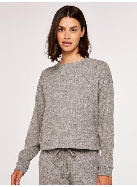 Apricot Soft Rib Sweatshirt