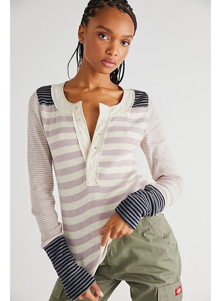 Free People Give Me Stripes Henley