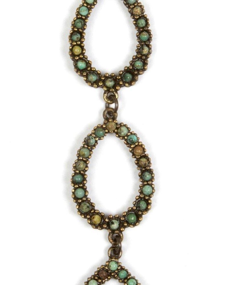 Rebel Designs Rebel Designs Triple Loop 1629 Necklace Afr Turq